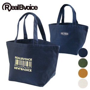 【RealBvoice】BARCODE CANVAS MINI TOTE BAG/バーコードキャンバス・ミニトートバッグ deepblue-ocean