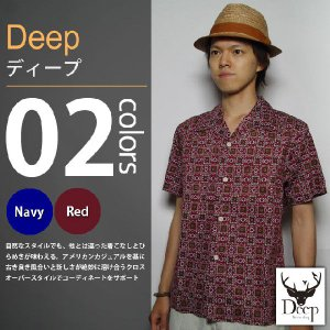 Deep / ディープ - バティック 半袖シャツ|deepstandard