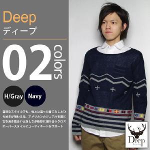Deep / ディープ - ジャガードボートネックセーター|deepstandard