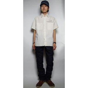 Buzz Rickson's / バズリクソンズ - ホワイトシャンブレー半袖ワークシャツ|deepstandard|04