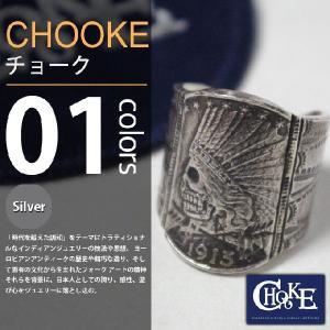 CHOOKE / チョーク - Indian Skull Ring L / インディアンスカルリング|deepstandard