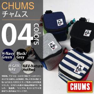 CHUMS / チャムス - キューブポーチ スウェット/ナイロン deepstandard