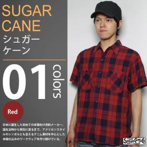 SUGAR CANE / シュガーケーン - LINEN CHECK S/S WORK SHIRT / リネンチェック 半袖ワークシャツ|deepstandard