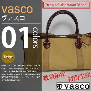 vasco×Deep - CANVAS×LEATHER BOSTON BAG|deepstandard
