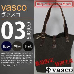 vasco×Deep - CANVAS×LEATHER TRAVEL MINI TOTEBAG / キャンバスレザートラベルミニトートバッグ|deepstandard