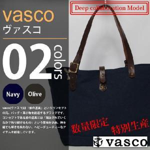 vasco×Deep - CANVAS×LEATHER TRAVEL TOTEBAG / キャンバスレザートラベルトートバッグ|deepstandard