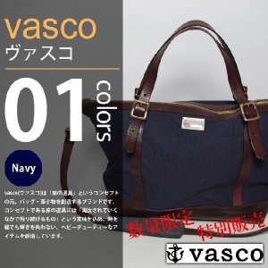 vasco×WASTE TWICE - CANVAS×LEATHER TRAVEL 2WAY TOTE BAG|deepstandard