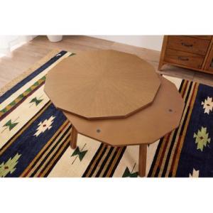 こたつ テーブル  多角形 円形 80 ヴィンテージ おしゃれ 送料無料