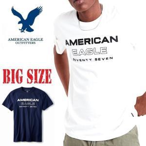 大きいサイズ メンズ AMERICAN EAGLE アメリカンイーグル ロゴグラフィック 半袖 クル...
