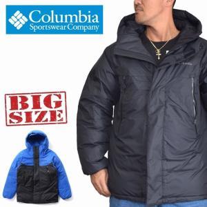 SALE 大きいサイズ メンズ COLUMBIA コロンビア ビッグリブマウンテンダウンジャケット ...