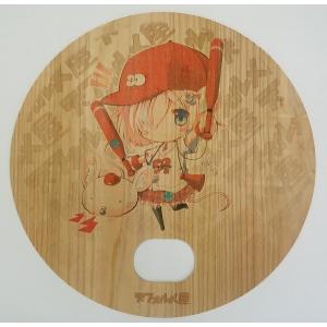 木製うちわ デフォたん(ユニフォーム赤)|deform-shop
