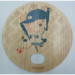 木製うちわ デフォたん(ユニフォーム青)|deform-shop