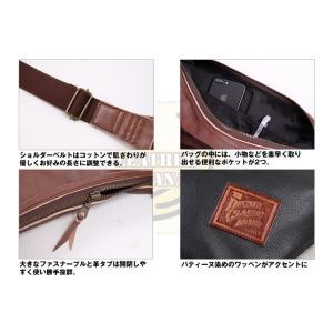 レザー ボディ バッグ バナナ LEATHER BODY BAG BANANA ブラック W-105-BK degner-jp 12