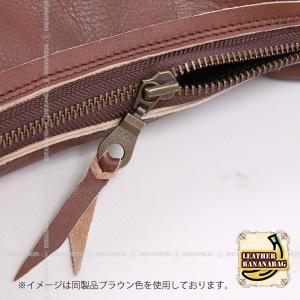 レザー ボディ バッグ バナナ LEATHER BODY BAG BANANA ブラック W-105-BK degner-jp 03
