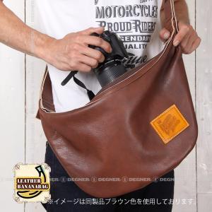 レザー ボディ バッグ バナナ LEATHER BODY BAG BANANA ブラック W-105-BK degner-jp 05