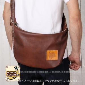 レザー ボディ バッグ バナナ LEATHER BODY BAG BANANA ブラック W-105-BK degner-jp 06