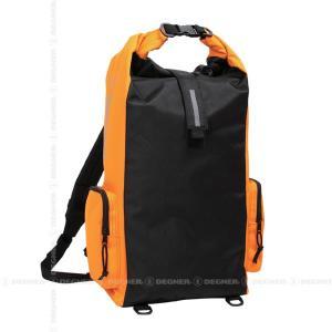 デグナー/DEGNER/ウォータープルーフマルチレインバッグ(ブラック/オレンジ)/NB-83:大容量&完全防水リュック|degner