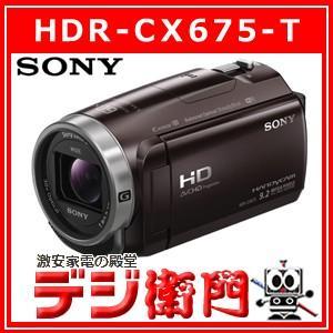 ソニー フルハイビジョンムービー デジタルビデオカメラ HDR-CX675-T ボルドーブラウン