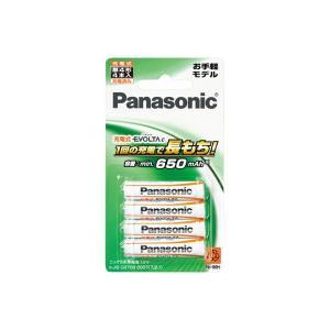 Panasonic EVOLTA 充電式エボルタ 単4形 4本パック お手軽モデル