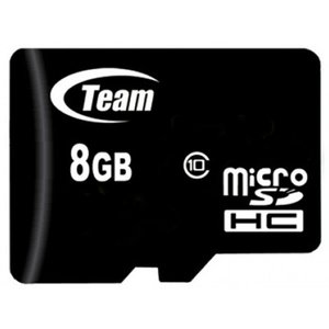 マイクロSDカード 8GB microSDカード class10 SD変換アダプタ付 TEAM チーム TG008G0MC28A