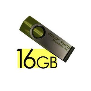 USBメモリ 16GB 1年保証付き 回転式 TEAM チー...