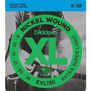 EXL130 Extra Super Light 8-38  DAddario ダダリオ エレキギター弦|dejikura