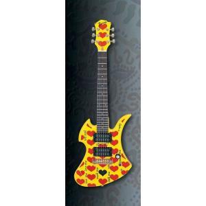 (完売)BURNY YELLOW HEART Jr. hide MODEL YH-JR.HY バーニー ミニエレキギター X JAPAN HIDE YH-Jr|dejikura