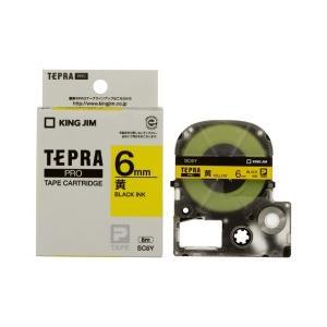 KING JIM キングジム テプラPRO テープカートリッジ カラーラベル(パステル) 黄テープ 黒文字 幅6mm×長さ8m SC6Y|dejikura