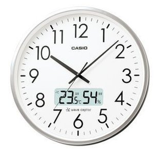 カシオ CASIO 電波時計 壁掛け時計 IC-2000J-8JF [IC2000J8JF オフィス向け大型タイプ]|dejikura
