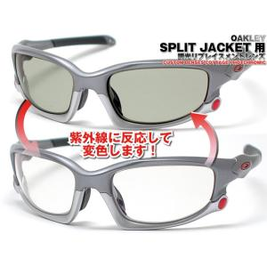 【OAKLEY-STRAIGHT&WIND JACKET用に予めレンズ形状をカットしました交換用調光...