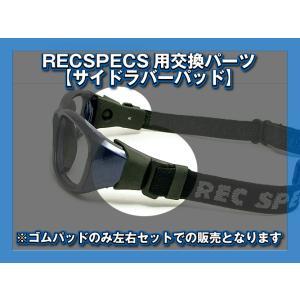 レックスペック RECSPECS MXゴーグルシリーズ用交換パーツ サイドラバーパッド ブラック 左...