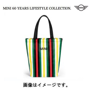 BMW MINI(ミニ) 純正 MINIストライプ・ショッピングバッグ マルチカラー 80222463260 deli-pa