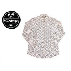 ワケあり-507 MITCHUMM(ミッチュム)Object-Scissors Cotton shirts 長袖シャツ サイズ:40 ※前身ごろひきつりあり※ delicious-y