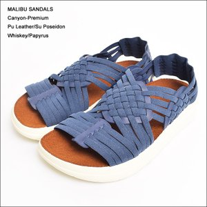 MALIBU SANDALS マリブサンダルズ MS01-1001 CANYON PREMIUM PU LEATHER Whiskey/Papyrus レディースサンダル|delicious-y
