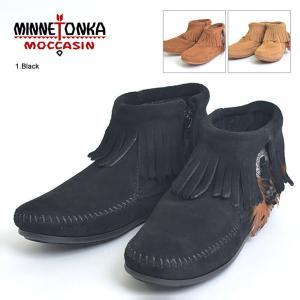 MINNETONKA ミネトンカ 520/522/527T CONCHO FEATHER BOOT コンチョ フェザー ブーツ レディース 靴 スエード サイドジップ|delicious-y