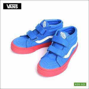 VANS KIDS HO'17 バンズ キッズ VN0A346YQR7 KIDS SK8-MID REISSUE V Vans Cosplay Blue/Red スケートハイ ミッドリイシュー ブルー/レッド 子供用スニーカー|delicious-y