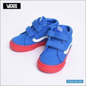 VANS KIDS HO'17 バンズ キッズ VN0A348JQR7 TODOLLER SK8-MID REISSUE V (Vans Cosplay) Blue/Red ト スケートハイ ブルー/レッド 幼児用スニーカー|delicious-y