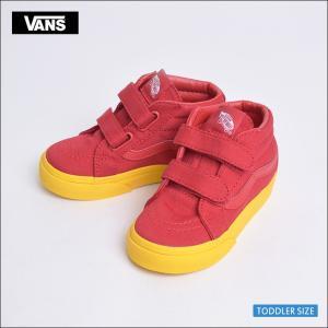 VANS KIDS HO'17 バンズ キッズ VN0A348JQR8 TODOLLER SK8-MID REISSUE V (Vans Cosplay) Red/Gold  スケートハイ レッド/ゴールド 幼児用スニーカー|delicious-y