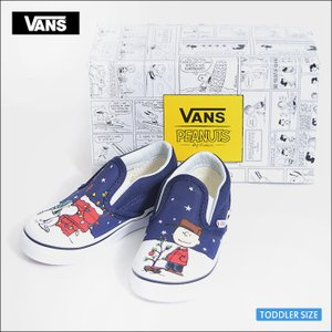 VANS KIDS HO'17 バンズ キッズ VN0A32QJQQF TODOLLER CLASSIC SLIP-ON Peanuts Charlie/Tree  クラシックスリッポン ピーナッツ ツリー 幼児用スニーカー|delicious-y
