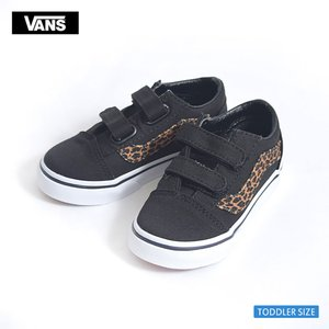 VANS KIDS バンズ キッズ VN0A344KQQA TODOLLER OLD SKOOL V Mini Leopard Brown/True White オールドスクール レオパード 幼児用スニーカー|delicious-y