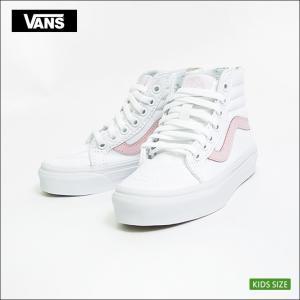 VANS KIDS バンズ キッズ VN0A3276Q7X SK8-HI ZIP True White/Chalk Pink スケートハイ ジップ ホワイト ピンク 子供 スニーカー|delicious-y
