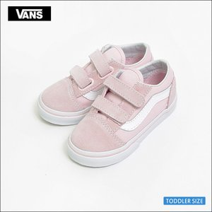 VANS TODDLER SP'18 バンズ トドラー VN0A344KQ7K OLD SKOOL V Suede/Canvas Chalk Pink/True White オールドスクール ピンク ホワイト 幼児用スニーカー|delicious-y