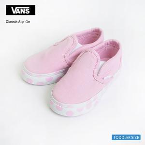 VANS バンズ トドラー VN0A32QJNFC スリッポン ドット ピンク 幼児用スニーカー|delicious-y