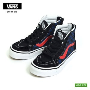 VANS KIDS バンズ キッズ VN0A38HDODI KIDS Old Skool V Checkerboard Blk Bldepth オールドスクール チェッカー 子供用スニーカー|delicious-y