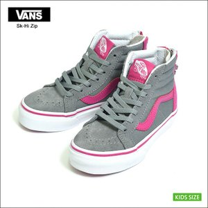 VANS KIDS バンズ キッズ VN0A3276OE3 SK8-HI ZIP V  Flower Zip Monument Very Berry モニュメント ベリー ベリー 子供用スニーカー FA17|delicious-y