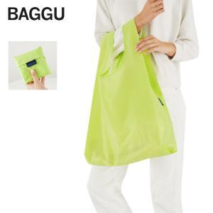 メール便 BAGGU バッグ ライム LIME グリーン ネオン エコバッグ ナイロンバッグ ショッピングバッグ トートバッグ delicious-y