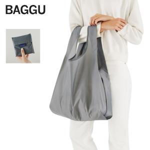 メール便 BAGGU バッグGREY グレー 灰色 エコバッグ ナイロンバッグ ショッピング トートバッグ|delicious-y