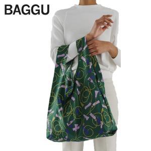 メール便 BAGGU バッグ STANDARD スタンダード GREEN TASSEL タッセル グリーン エコバッグ ナイロンバッグ ショッピングバッグ トートバッグ delicious-y