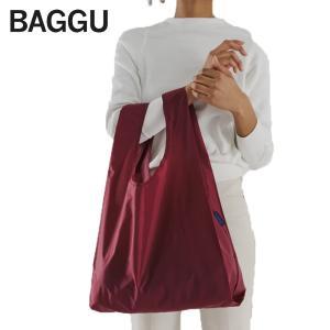 メール便 BAGGU バッグ STANDARD スタンダード CRANBERRY クランベリー エコバッグ ナイロンバッグ ショッピングバッグ トートバッグ|delicious-y