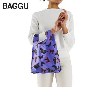 メール便 BABY BAGGU ベビー バッグ【Butterfly】バタフライ パープル 蝶 紫 エコバッグ ナイロンバッグ ショッピングバッグ トートバッグ ギフト プレゼント delicious-y